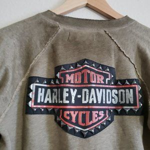 Harley-Davidson Studded Raglan Pullover Sweatshirt